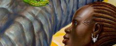 Abuk, die Göttin, die die Freiheit erobert
