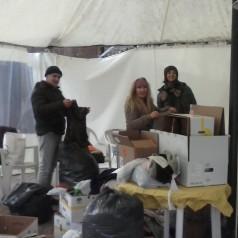 Unterstützung der syrischen Flüchtlinge in Griechenland